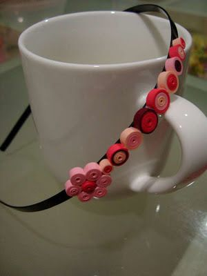 Lulu's Quilling Lab: Quilled headband