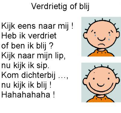 VERDRIETIG of BLIJ ? >>> Ontdek spelenderwijs de taal van emoties. TIP's op www.LEKKER-in-je-VEL-spel.nl