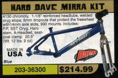 Haro Dave Mirra Kit