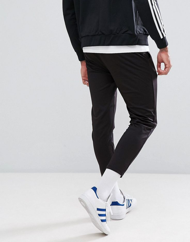 ASOS Skinny Cropped Jogger in Poly Tricot - Black