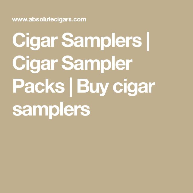 Cigar Samplers | Cigar Sampler Packs | Buy cigar samplers