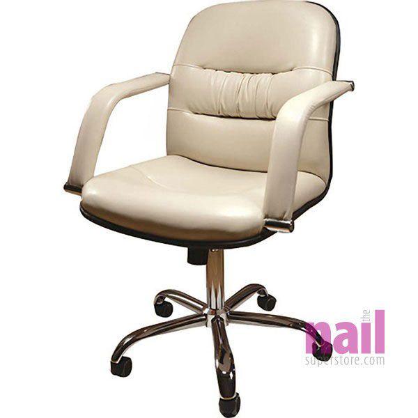 EuroStyle Elite Nail Salon Customer Chair *CLEARANCE* | Rich Cream
