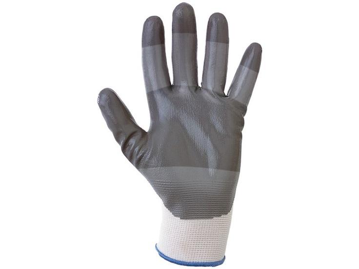 Guantes de nitrilo URO FORCO.  Guantes de nitrilo con soporte de nylon. Dorso transpirable. Tejido regruesado en las zonas de mayor desgaste. Especial sensibilidad y tacto. Electrónica, Electricidad (montajes), Automoción (cableado), Actividades de mantenimiento, Embalajes, Residuos, Micro-mecánica.    http://www.mafepe.com/productos/ver/guantes-de-nitrilo-uro-forco