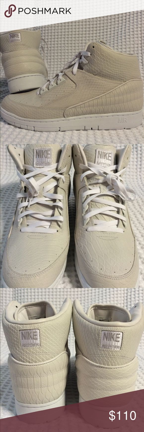 Nike Air Pythons BRAND NEW, NEVER WORN Nike Air Python in White. SIZE is a Men's 13. Retails for $150 asking $110. If you're interested or have any questions, message me or text me at 5O3 47nine 7five98  Tags: Kicks, Tennis shoes, Jordan's, Nike, Adidas, Kobe, Hoodie, Sweatshirt, Jacket, zip-up, Cleveland Cavaliers, Cavs, Portland Trail Blazers, Basketball, Air Max, LeBron James, Kevin Durant, NBA, NFL, Kicks, Dame, Steph Curry, Kobe Bryant, Black Mamba, Under Armor, King James, Spikes…