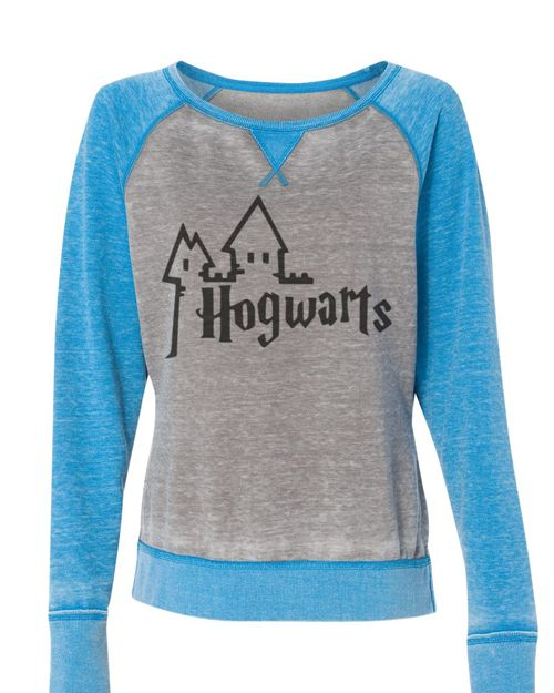 Harry Potter Hogwarts cozy wide neck off shoulder sweatshirt