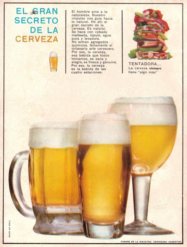Publicidad institucional de la CÁMARA DE LA INDUSTRIA CERVECERA ARGENTINA, 1965.