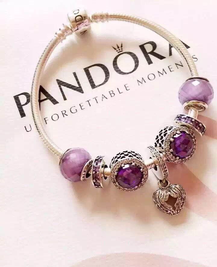 50% OFF!!! $199 Pandora Charm Bracelet Purple. Hot Sale!!! SKU: CB02001 - PANDORA Bracelet Ideas