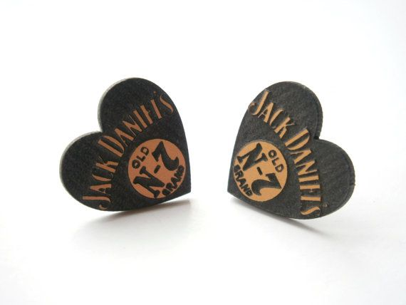 Jack Daniels Earrings  Laser Cut Black and by LaserCutJewelry, $9.95