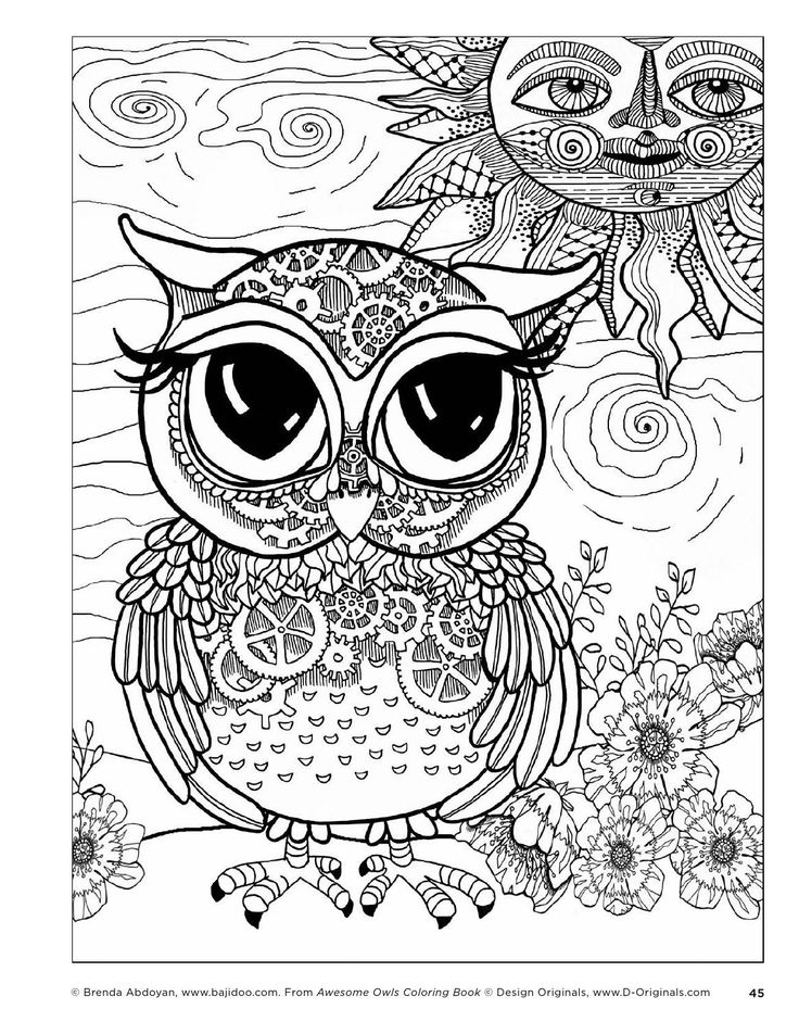 199 best Coloring Pages - Owls images on Pinterest