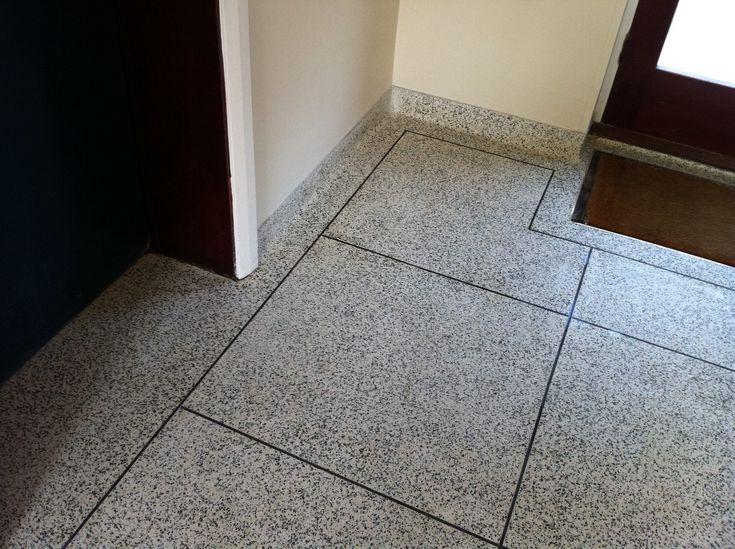 Terrazzo floor restoration, diamond floor polishing, crack repairs and sealing Brighton and Hove, East Sussex