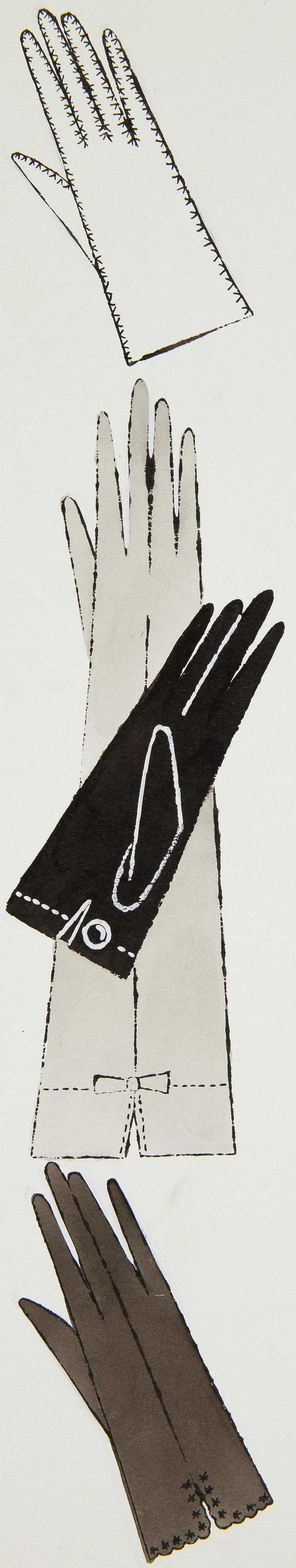 """""""Four Gloves"""" by Andy Warhol"""
