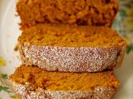 Pumpkin bread- made with vanilla pudding mix