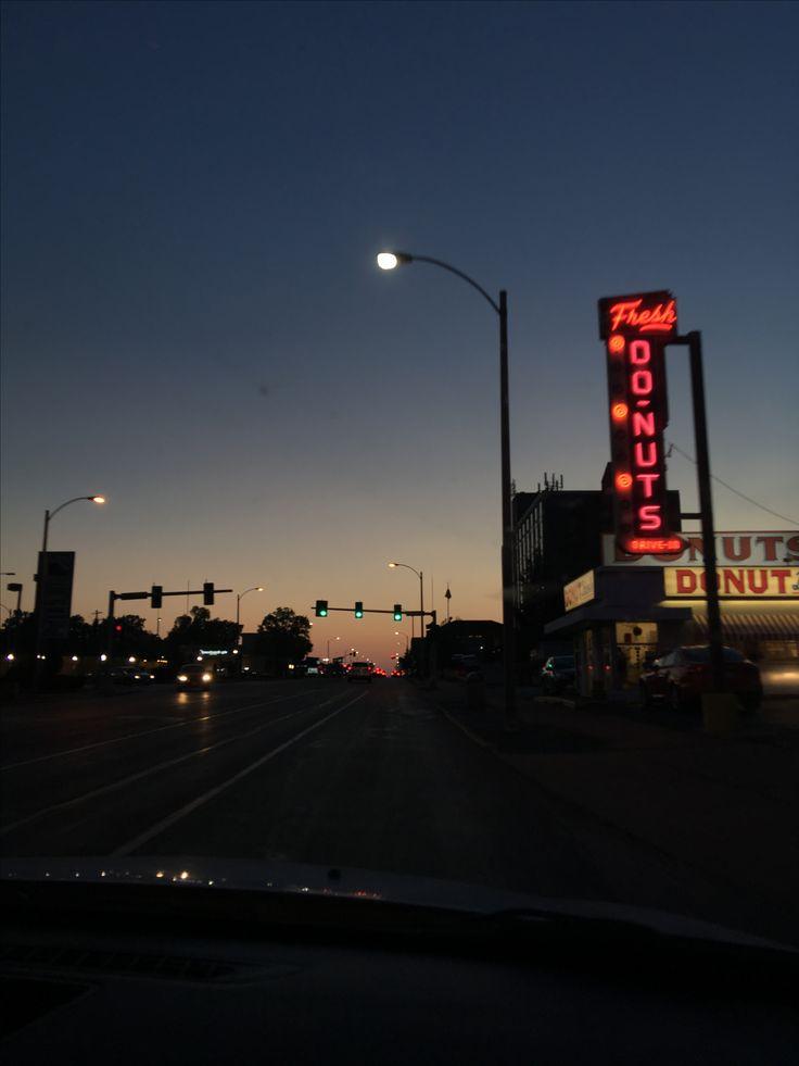 Sunset Neon Street Light Aesthetic Street Light