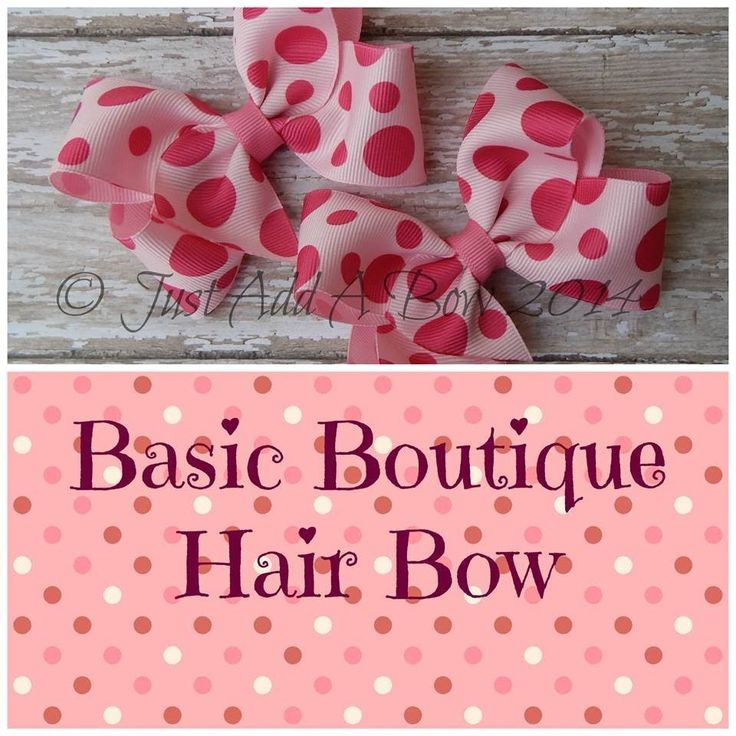HOW TO: Make A Basic Boutique Bow Tutorial by Just Add A Bow