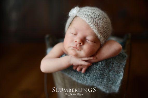 Neugeborene Turban Hut Neugeborenen Mohair von LavenderBlossoms