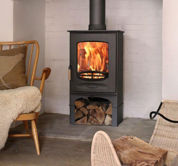 Wood Burning Stove Living Room Pinterest