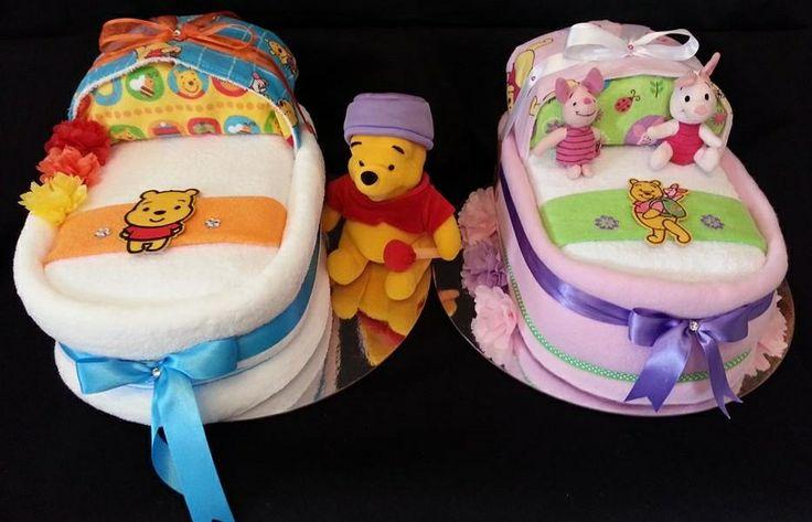 "Winnie  Piglet Themed ... Custom Order for Twins ... Shalea Design by ""Shalea Gifts"""