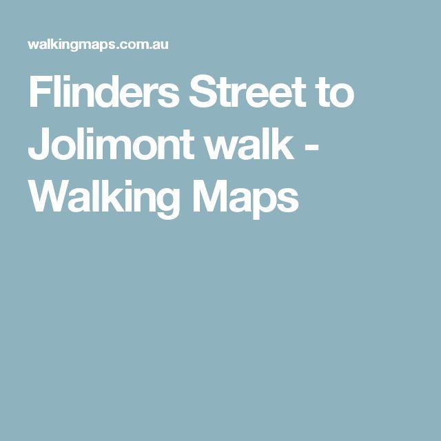 Flinders Street to Jolimont walk - Walking Maps