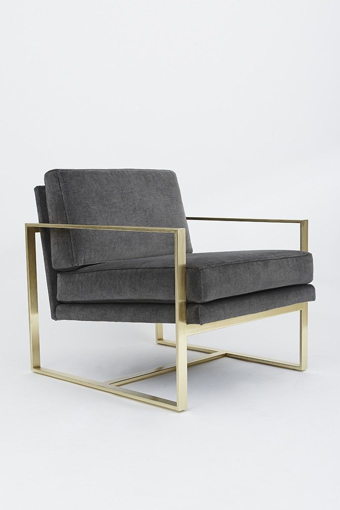 Box Chair With Polished Brass Base By Lawson Fenning Photo