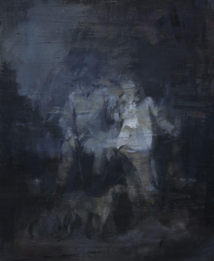 Jake Wood-Evans Hunting Scene, after Romney, 2017 Oil on canvas. 82 x 69 cm