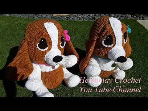This video tutorial will show you how to make this adorable crochet hound dog. There is a separate video tutorial for the crochet hound dog pillow with a fun...