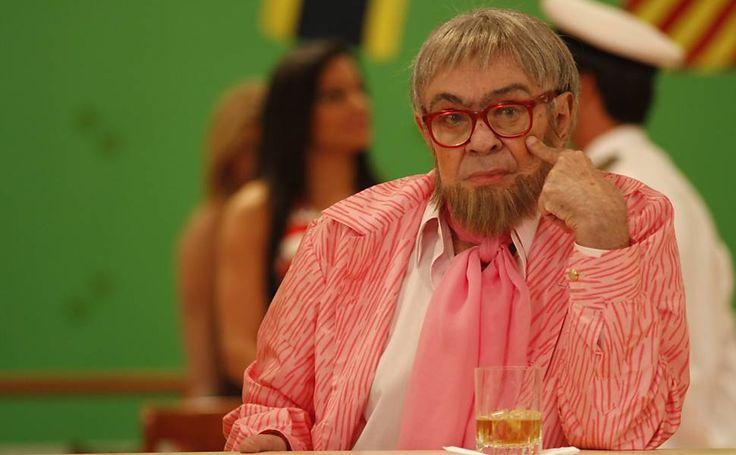 """O humorista Chico Anysio interpreta o personagem Haroldo para o especial de fim de ano """"Chico & Amigos"""", da Rede Globo"""