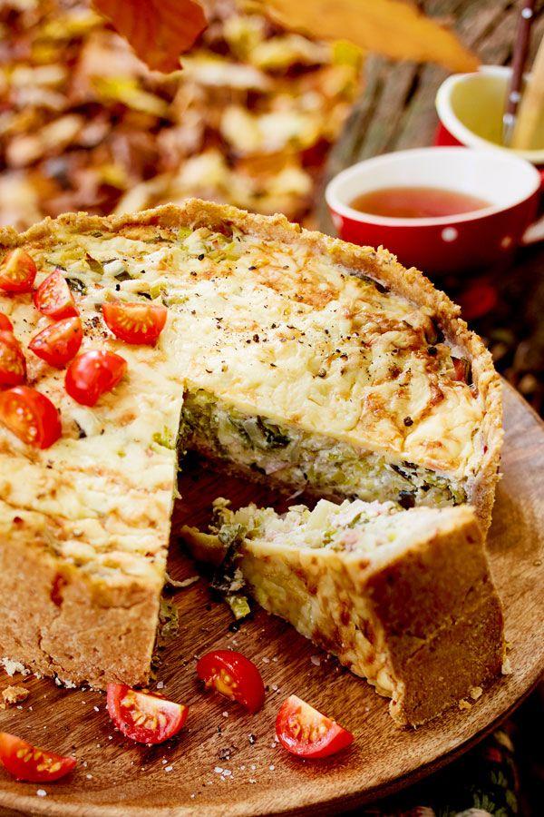 Porree Schinken Quiche Rezept Ofengerichte Pinterest Food