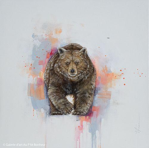 Tammy Shane, 'Winter Coat', 24'' x 24'' | Galerie d'art - Au P'tit Bonheur - Art Gallery