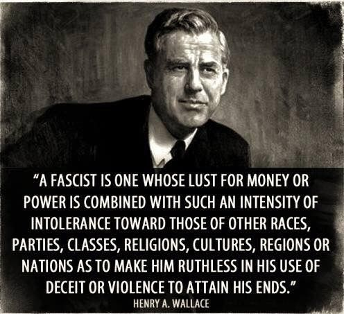 Henry A. Wallace defines a fascist.