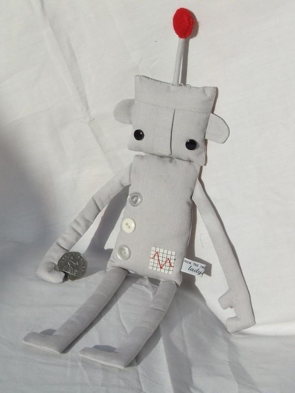 Mr Robotington - Small Size. £20.00, via Etsy.