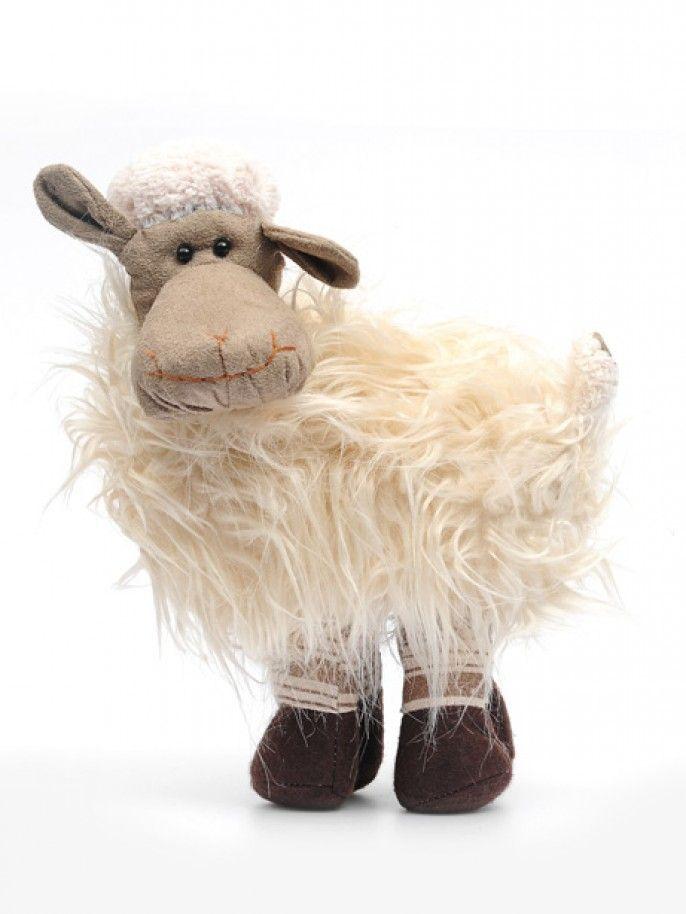 Shaggy Standing Sheep - Natural