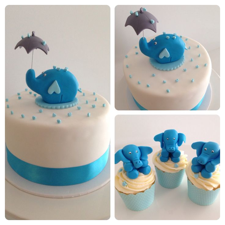 Baby Shower Umbrella Elephant Cake Moo Bag Cakes