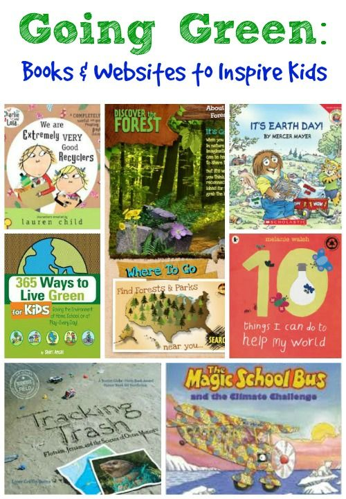 {Going Green} Kids will love these books & websites that teach them about environmental issues and fun ways to be earth-friendly!