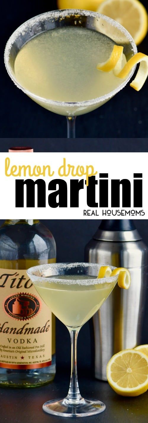 A Lemon Drop Martini is the perfect cocktail to make any night of the week! With only three easy to find ingredients, you are going to want to make this drink all the time! via @realhousemoms