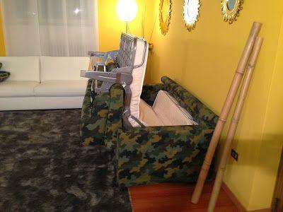 Apertura divano letto mimetico Rossy Tino Mariani. http://divaniedivaniletto.blogspot.it/2013/11/divano-letto-mimetico.html