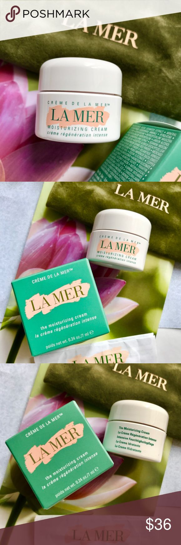 💜 La Mer Crème de la Mer Moisturizing Cream NEW💌 Perfect to try before committing to full size. Note item → size ← before purchasing. No trades. You will receive the following:  ❤︎ New  ❤︎ Unused  ❤︎ Authentic  ❤︎ Unopened   La Mer Crème de la Mer Moisturizing Cream Instructions included in box Size: 0.24 oz / 7 ml Batch code: DB6  This decadent cream transforms skin with an ultra-rich, dewy finish.   Even the driest complexions are renewed with the coveted Crème de la Mer.   ●●NOT●●…