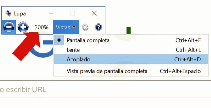 Lupa de windows 10