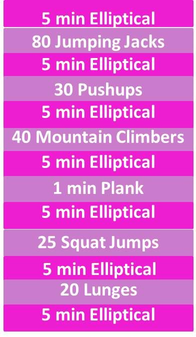 40 Minute Elliptical+Circuit Workout