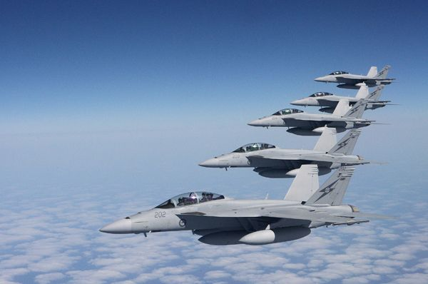 The RAAF's F/A-18 Hornet will be at the IFR.