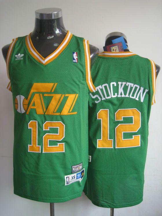 big sale 2bcee 2f4c0 utah jazz 12 john stockton black swingman throwback jersey