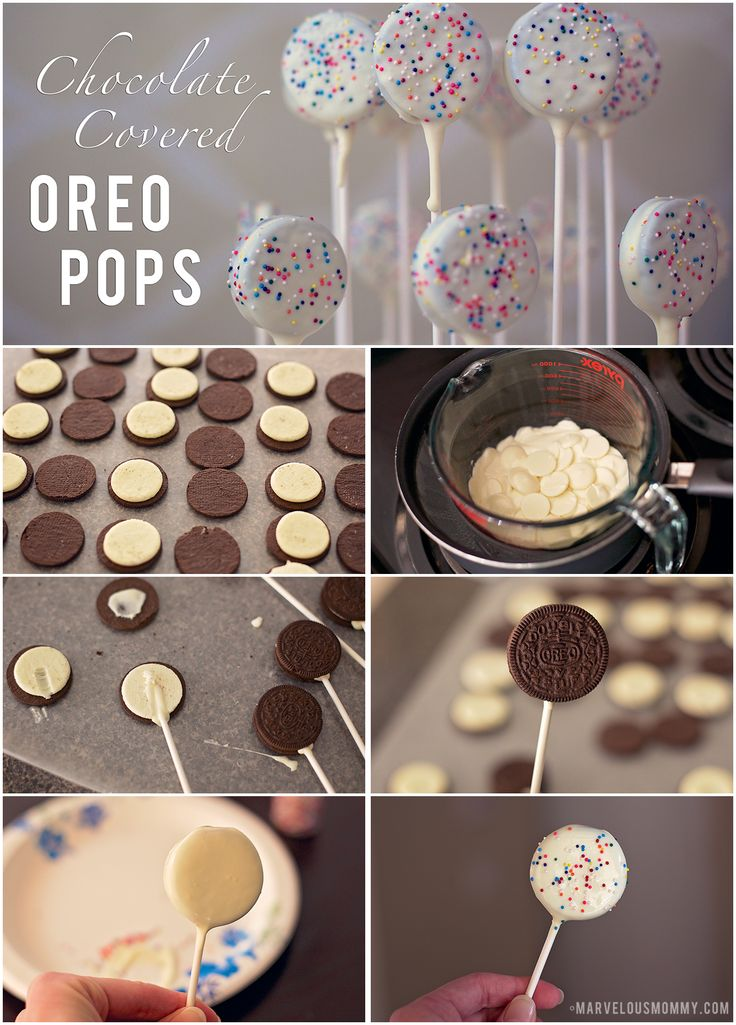 Chocolate Covered Oreo Pops | Candyland Birthday Party #Recipe #tutorial