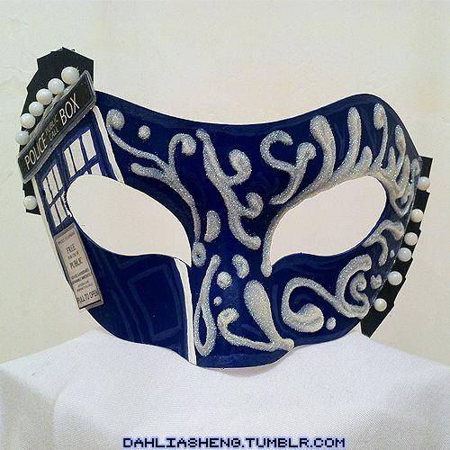 TARDIS Masquerade Mask