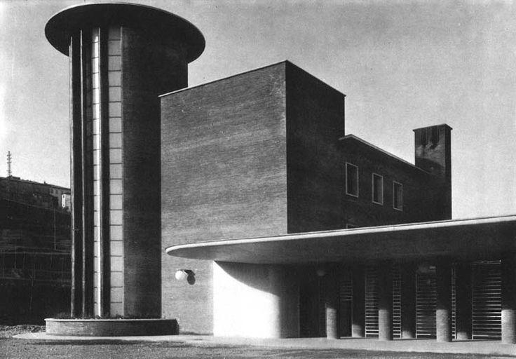 Stazione di Siena, Torre di luce nel fabbricato viaggiatori, Angiolo Mazzoni, (1933-35)