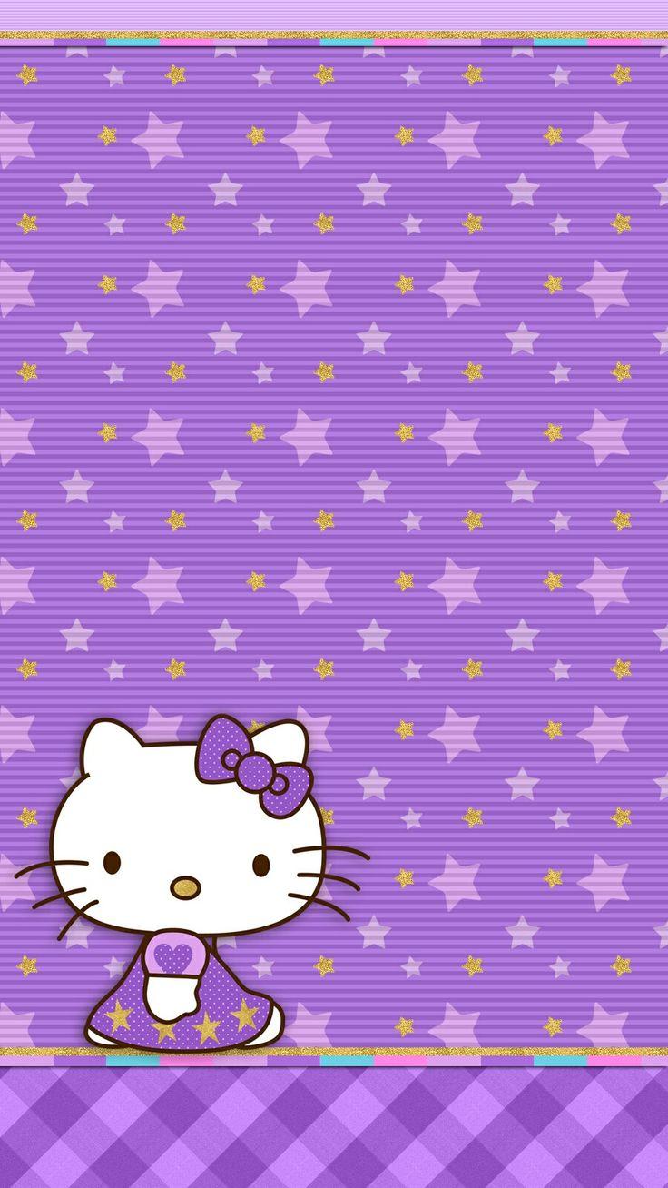 Violet twilight hello kitty hello kitty stuff for Fondo de pantalla lunares