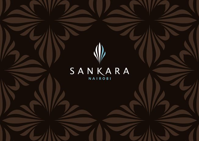 Branding of the five star luxury hotel, Sankara. Inspiration from a zebras stripes, giving it an authentic african flavour.