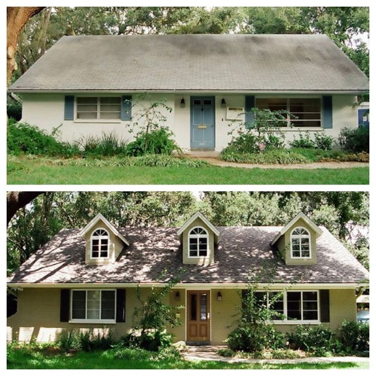 58 best 1960 39 s era house exterior transformations images on pinterest exterior homes before House transformations exterior