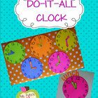 Cute clock template is a printable pattern and has so many uses! $