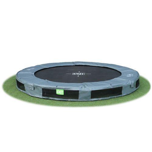 Etsitkö trampoliinia pienelle pihalle? Exitin Interra 2,44m leveä maatrampoliini on loistava valinta!