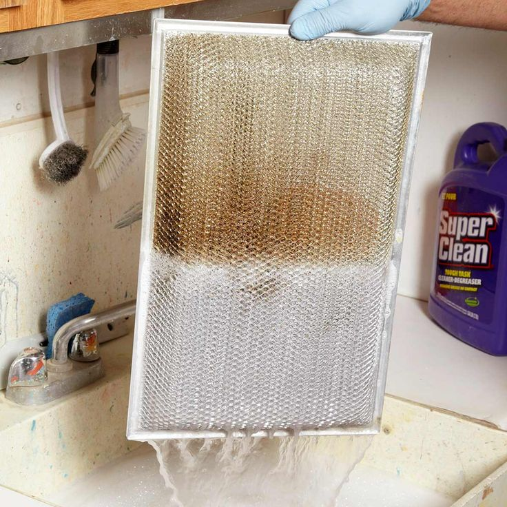 The Best Way To Clean A Greasy Kitchen Range Hood Filter