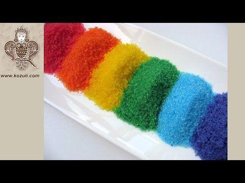 @kozuli_com How to make rainbow colors sugar for decoration baking. Video tutorial / Как сделать цветной сахар своими руками, в домашних условиях. Видео мастер-класс / Цветной сахар для украшения выпечки, пряников
